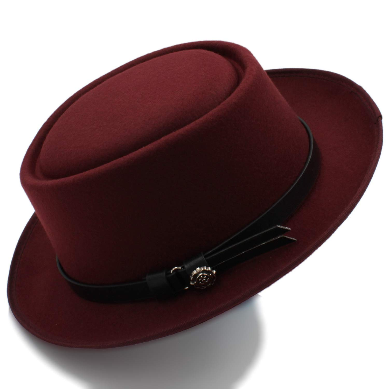 Fashion Womens Fedora Hat Pork Pie Hat Lady Church Wool Felt Hat Gambler Panama Trilby Hats