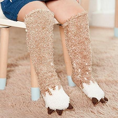 Overknee ZYTAN medias y calcetines calcetines de bebé los calcetines de algodón engrosamiento,5 medias de algodón,1-5 años (sin talón) 5 pares: Amazon.es: ...