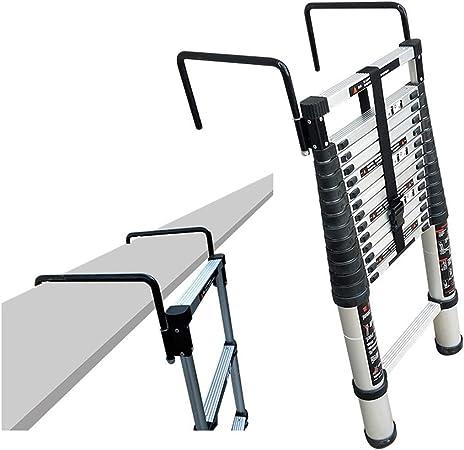 ZAQI - Escalera Extensible de Aluminio con Ganchos, Escalera telescópica Plegable para desván, Mantenimiento de construcción, Multiusos, 200 kg, 2,6 m/3,2 m/3,8/4,4 m: Amazon.es: Hogar