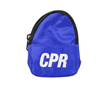 CPR Savers & First Aid Supply CPR Backpack Face Shield Mask Keychain Kit  with Gloves