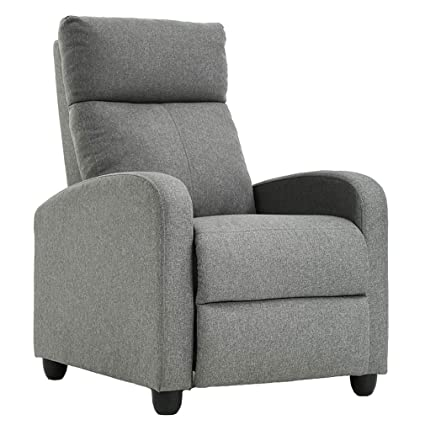 Single Modern Sofa Home Theater Seating for Living Room (Gray),
