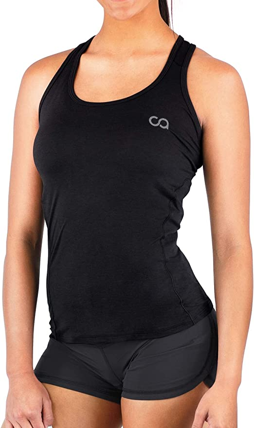 Off the Market Fitted Ladies Women Racerback Gym Workout Vest Tank Top