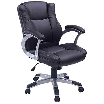 Bureau Exécutif Réglable Cuir Luxe Chaise Rembourré De Blitzzauber24 D'ordinateur En Pubrun CrdsQxBtho
