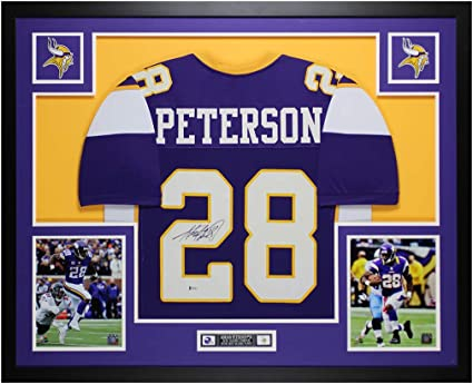 Adrian Peterson Autographed Purple Minnesota Jersey - Beautifully ...