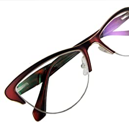 1ed58b5252e Circleperson women cat eye Reading glasses spring hinges half-rimless  Middle size