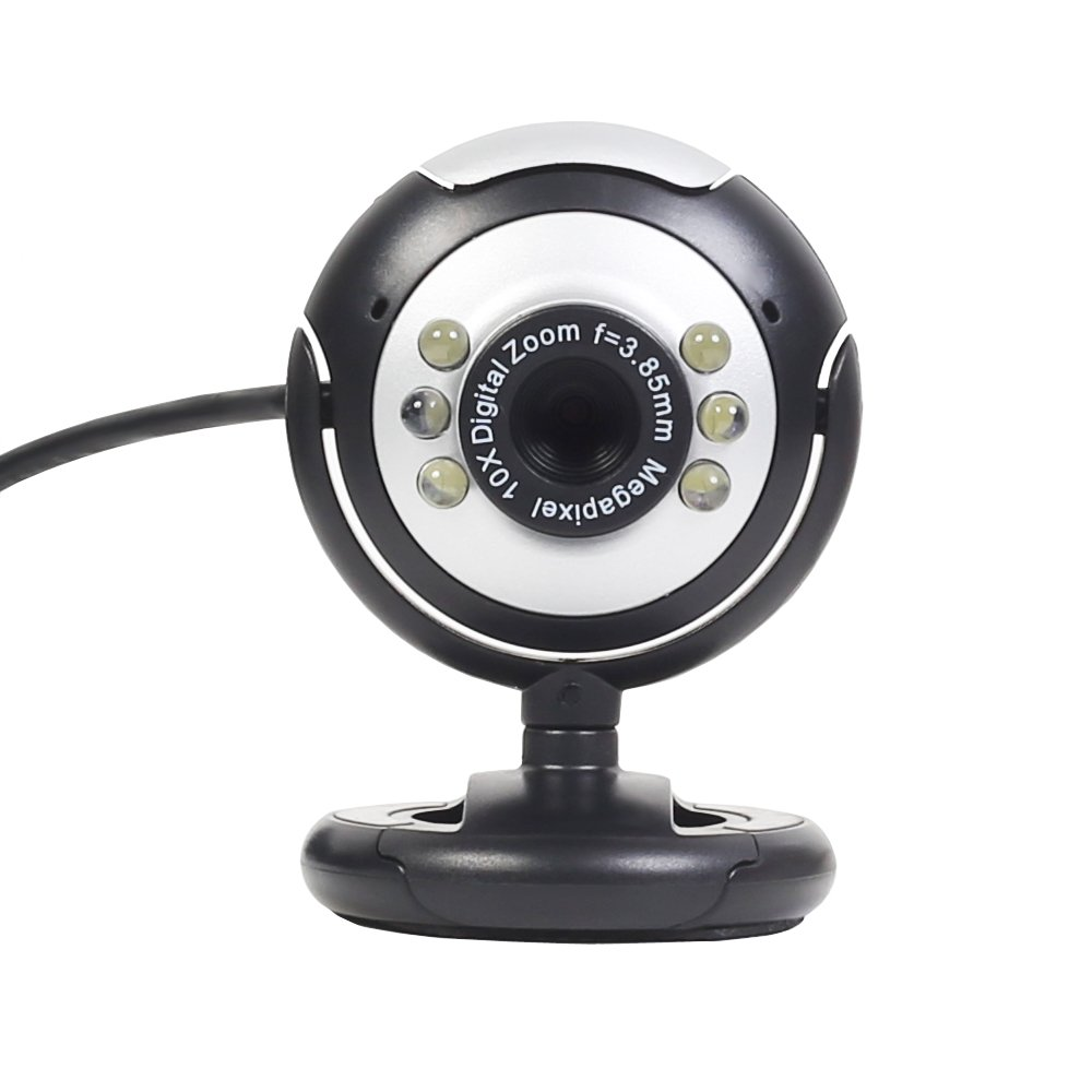 12.0 Megapixel USB 6 LED PC Webcam Camera for MSN, ICQ, AIM, Skype, Net Meeting and compatible with Win 98 / 2000 / NT / Me / XP / Vista (No Mic) Generic 21001WEB-01