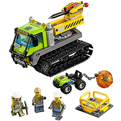 LEGO City Volcano Explorers Volcano Crawler 60122 Creative Play Building Toy (Lego Bulldozer)