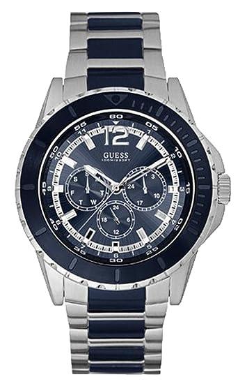 Guess Reloj Análogo clásico para Hombre de Cuarzo con Correa en Acero Inoxidable W0478G2: Amazon.es: Relojes