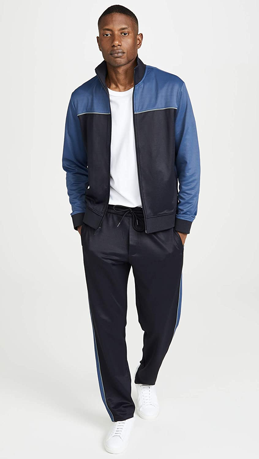 Vince Mens Full Zip Track Jacket
