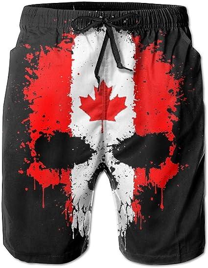 Man Summer Canada Flag Art Quick Dry Beach Shorts Cargo Shorts