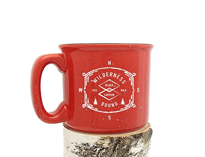 camping mug wilderness bound screen printed coffee mug