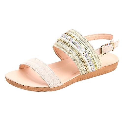 Longra sandali della signora Boemia (EU Size:39, Nero)