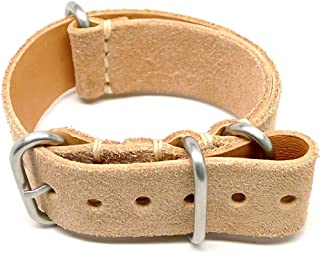 product image for DaLuca Military Watch Strap - Natural Suede (Matte Buckle) : 22mm