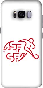 ColorKing Football Switzerland 06 White shell case cover for Samsung S8 Plus