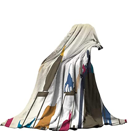 9245fd7b4a958 Amazon.com: QINYAN-Home Throw Blanket (62