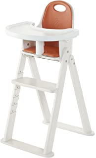Svan High Chair With Removable Cushion And Harness, White
