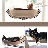 MOLOVET 猫窓 ベッド 吸盤タイプ 取り付け簡単 窓台日光に浴びて おやすみ ペット用品 キャットハウス ベッド 猫 ハンモック ペットベッド キャット用 吸盤タイプ 取り付け簡単 27kgまで耐荷重 (カーキ)