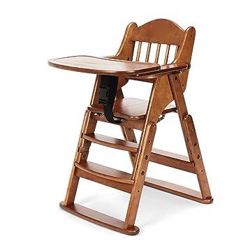 Amazon.com: Silla de comedor infantil de madera maciza ...