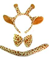 Allsorts® Safari Zoo Fancy Dress Set Ears Tail Animal Fancy Dress Dressing Up Costume (GIRAFFE)
