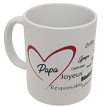 Avec Coeur Panoramique Papa Kalféa Pères Compliments Impression Fête T'aime Je Tasse Cadeau Mug Des Et ordCBQxeW