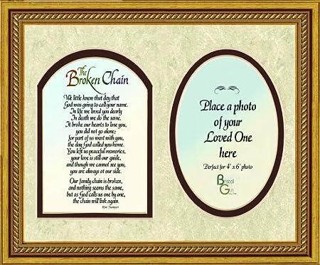 Broken Chain Poem Memorial Photo Frame 8 X 10 Amazoncouk