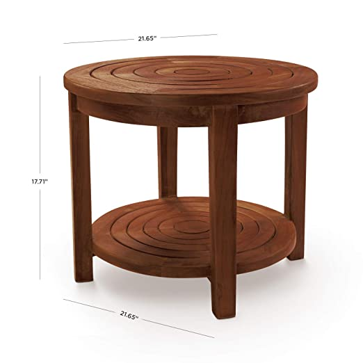 Tremendous Details About Hydroteak Pali Teak Wood Shower Bench W Shelf Bath Chair Spa Bathroom Assembled Caraccident5 Cool Chair Designs And Ideas Caraccident5Info