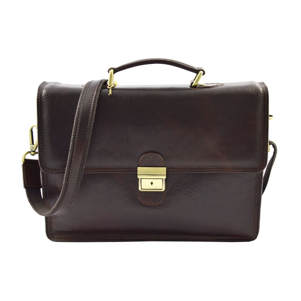 Dream Leather Bags Made in Italy Genuine Leather メンズ US サイズ: 1 カラー: ブラウン B074MNHH5Q