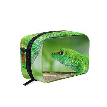 8b1aa8fe01a1 Amazon.com : Lizard Gecko Makeup Bag Organizer Portable Cosmetic ...