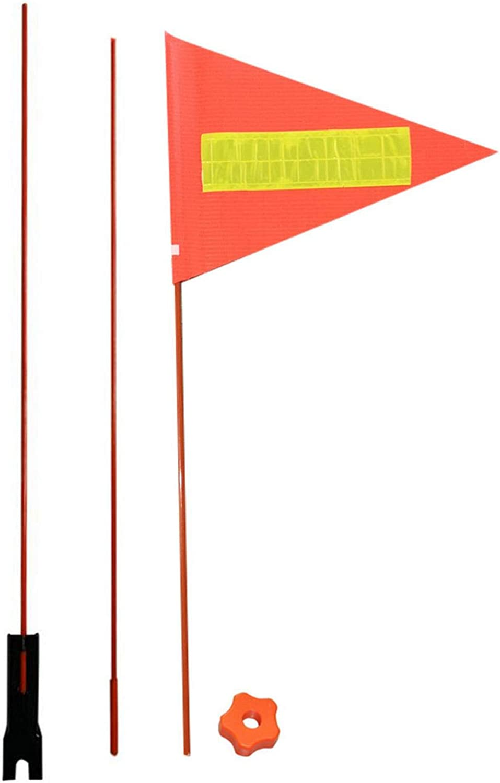Bulrusely 60 cm x 3 secciones, fibra de vidrio, con tira reflectante Bander/ín para bicicleta