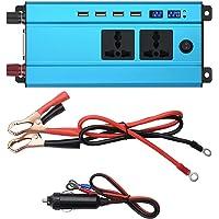 5000W Car Power Inverter Charger Dc 12V/24V To Ac 220V/110V Voltage Transformer Blue