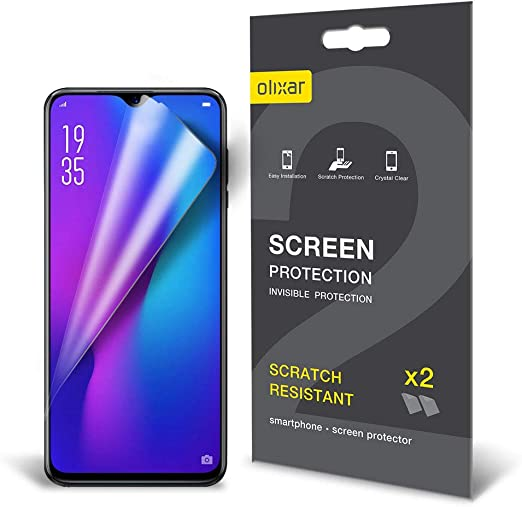 Amazon Com Olixar For Huawei P30 Pro Screen Protector Film Protection Case Friendly Easy Application Card And Cleaning Cloth Included 2 Pack