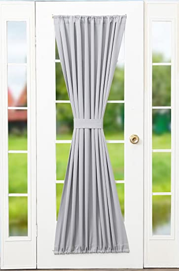 Amazon.com: RHF Blackout french door curtains/panel 54W by 72L ...