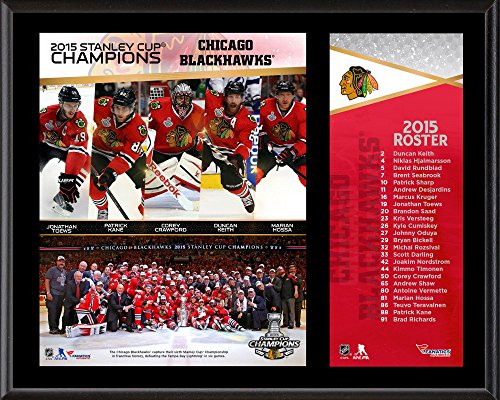 - Chicago Blackhawks 2015 Stanley Cup Champions 12'' x 15'' Sublimated Plaque - NHL Team Plaques and Collages
