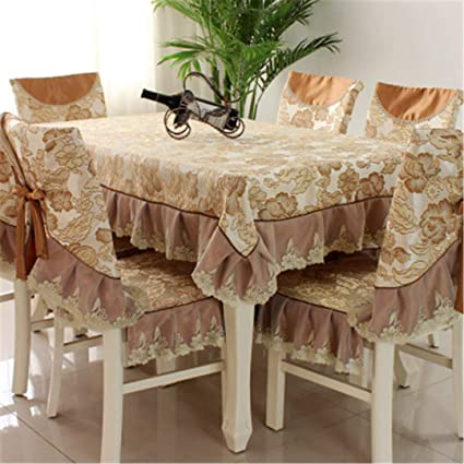 5cd850b8cf4 ZGHAFBES Fashion Top Grade Dining Table Cloth Chair Covers Cushion Tables  and Chairs Bundle Chair Cover