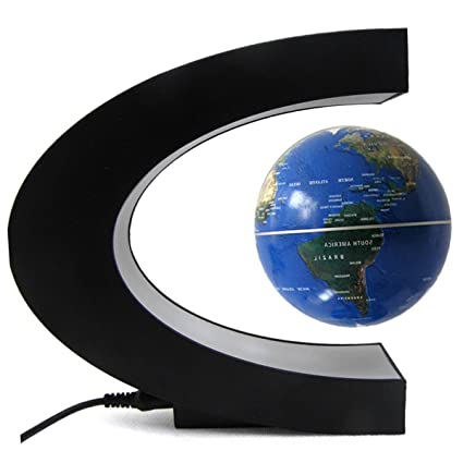 Amazon suspended world map globe cestore 360 degree magnetic suspended world map globe cestore 360 degree magnetic levitation floating rotating in midair anti gumiabroncs Gallery
