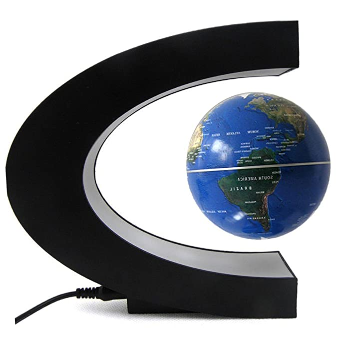 Amazon suspended world map globe cestore 360 degree magnetic suspended world map globe cestore 360 degree magnetic levitation floating rotating in midair anti gumiabroncs Image collections