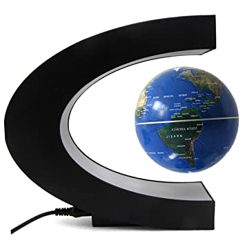 Koiiko c shape magnetic levitation floating world map amazon koiiko c shape magnetic levitation floating world map globe with led lights great christmas gift for gumiabroncs Images