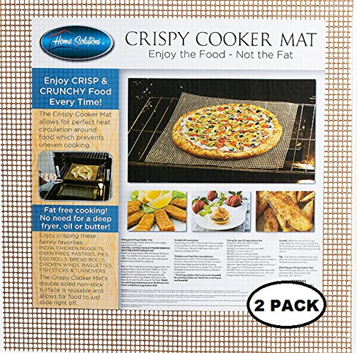 Healthy Cooking Baking Mat Set of 2 Large Non Stick Reusable Mesh Sheets Cook Without Oil Or Fat For Crispy Food Dishwasher Safe by Home Solutions