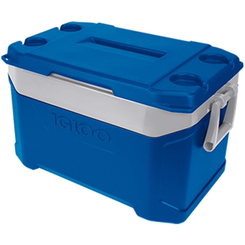 Azul Zafiro y Gris Ceniza Igloo 49886 Latitude 50 refrigerador 50 Cuartos.