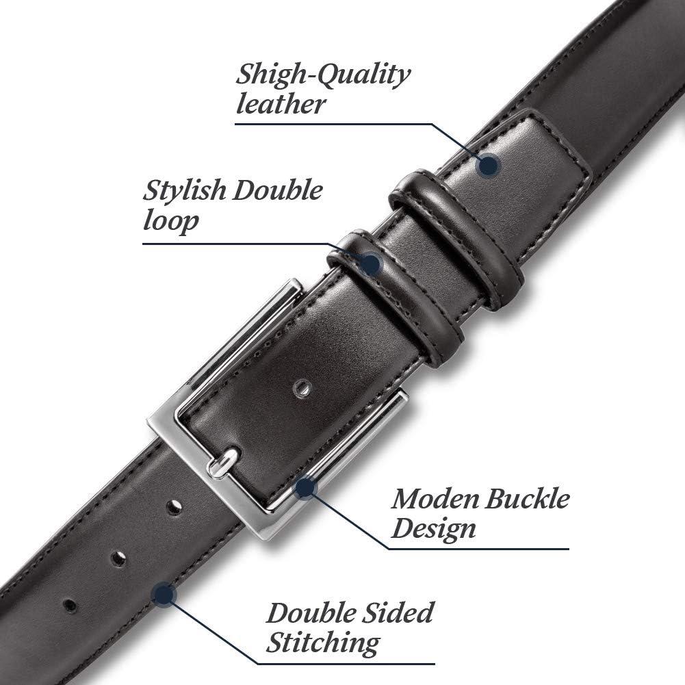 Mens Leather belt,Classic /& Fashion Designs Belt for Men Genuine Leather Belt