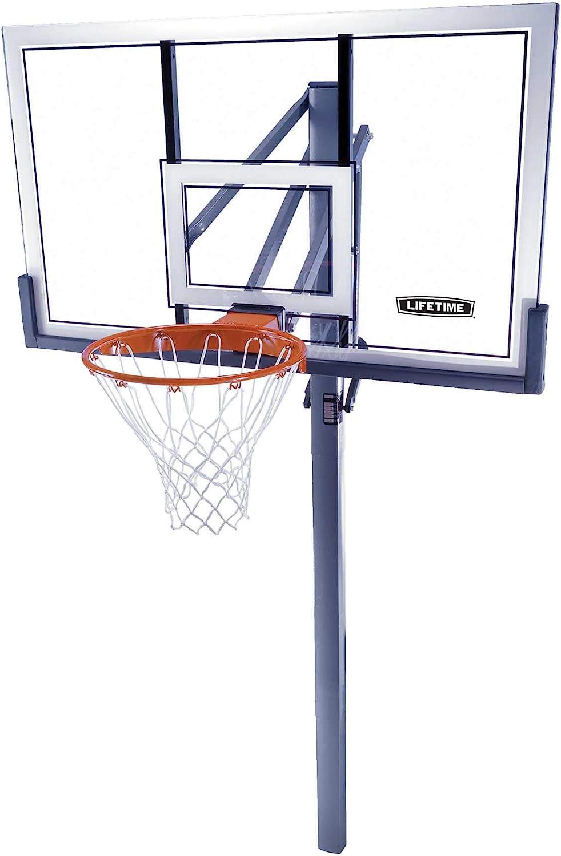 Lifetime In-Ground Power Lift Backboard Basketball System 52-Inch