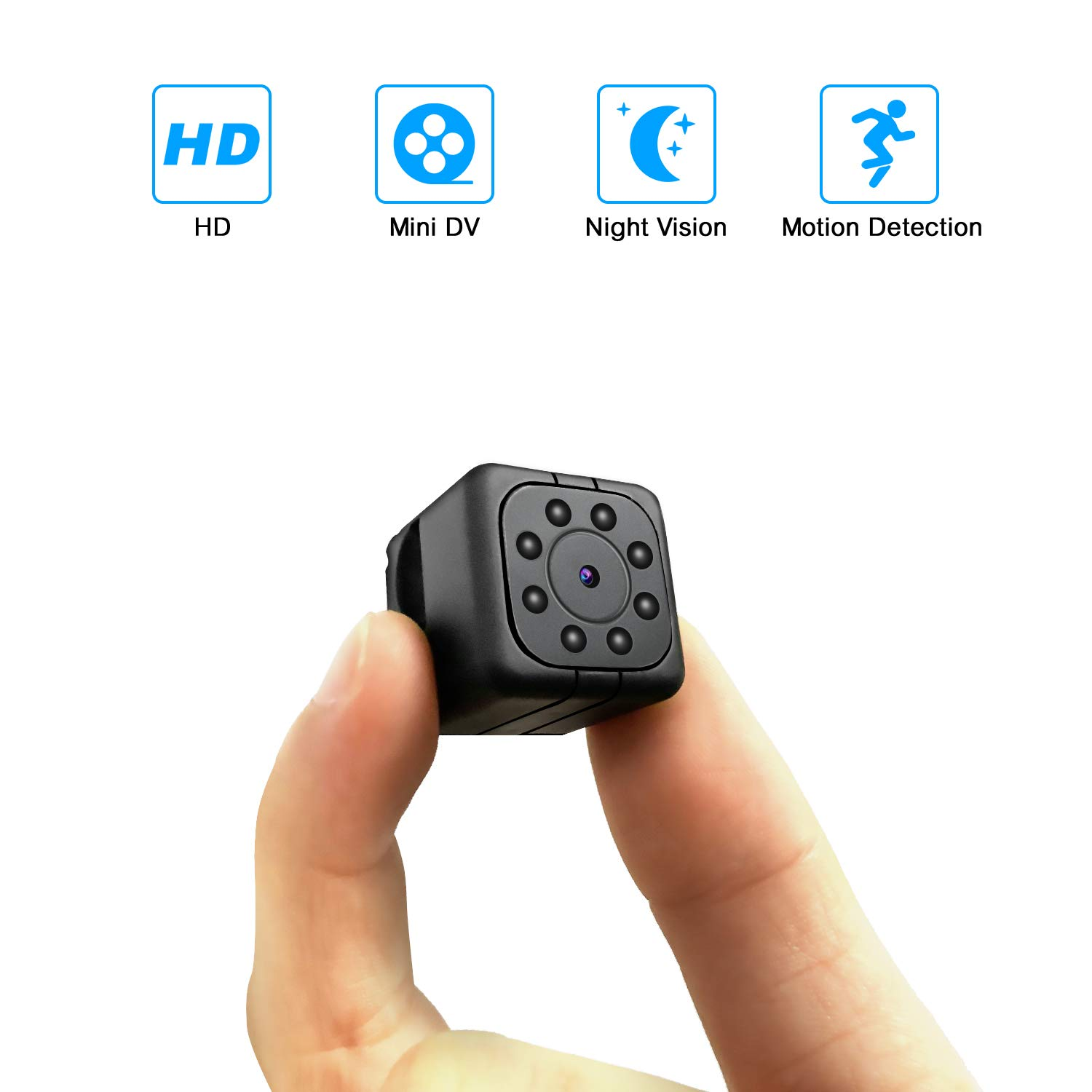 YAOAWE Spy Mini Camera HD 1080P Small Portable Wireless Home Security Surveillance Camera Nanny Cam Night Vision Motion Detection Hidden Video Recorder Outdoor Indoor Smallest Spy Cam