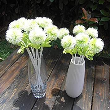 Calcifer10 Pcs 13 Dandelion Artificial Flowers Plants Bouquet For Home Decoration Wedding Decor