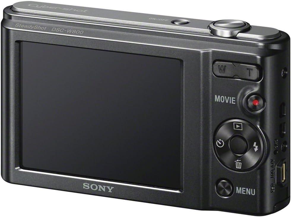 Sony W800/B 20.1 MP Digital Camera (Black) + 32GB Pixi-Basic Accessory Bundle