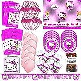 Procos Hello Kitty Party Set XL 75-teilig für 6 Gäste Kittyparty Geburtstag Deko Partypaket