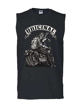 83213ed938cb06 Original Biker Skull Muscle Shirt Ride or Die Route 66 Motorcycle MC  Sleeveless Black S