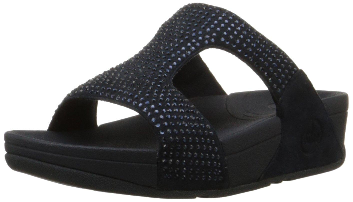 FitFlop Women's Rokkit Slide Dress Sandal, Super Navy, 8 M US