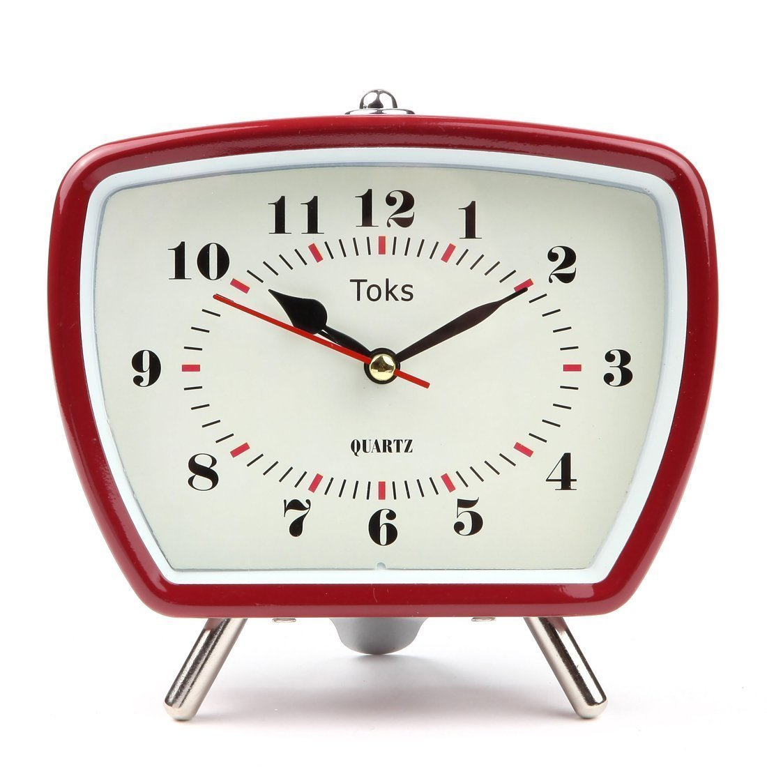Lily's Home Vintage/Retro Inspired Analog Alarm Clock, Red 5.5 Red 5.5 Lily' s Home SW443-A