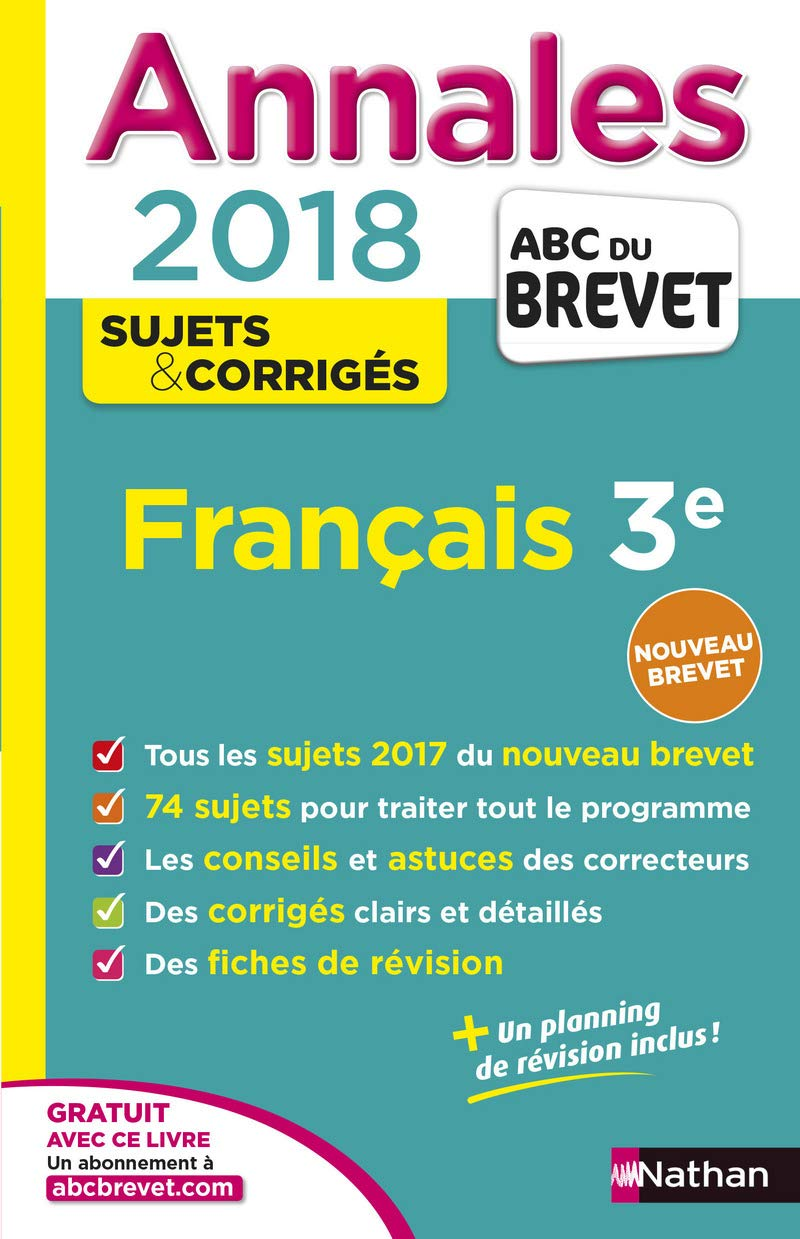 Annales ABC du Brevet Français 2018 (French) Paperback
