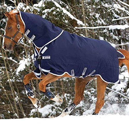 Rambo Turnout - Rambo Original Medium Weight Turnout Blanket with Leg Arches-  81 Navy